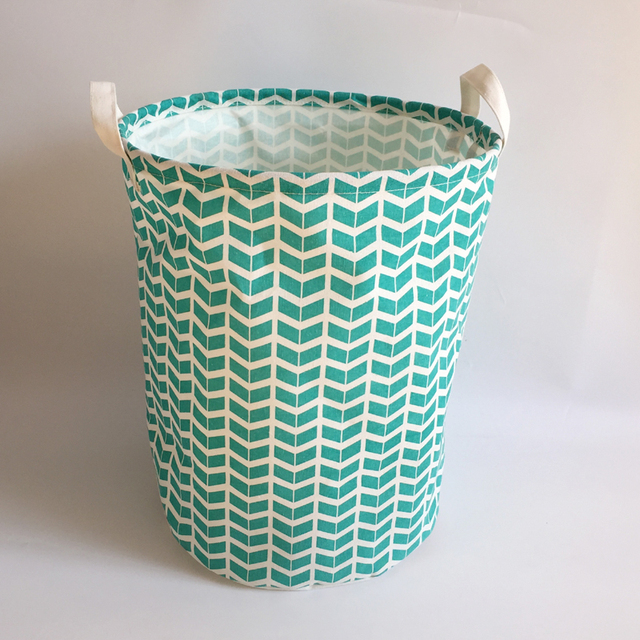 m nage populaire vert couleur belle toile tissu panier linge avec blanc couleur poign es. Black Bedroom Furniture Sets. Home Design Ideas