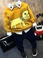 Толстые детская одежда зимой дети толстые мальчики блузка тигр печати милые мальчики толстовки желтый хлопок infatil костюмы костюм для 2-Y