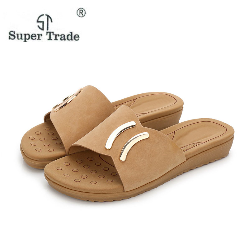 2018 New Fashion Ladies Sandals Summer Leisure Buckle Round Flat Shoes Women Sandals And Slippers Are Semi Slippers VF809-3 2015 summer new fashion and leisure solid cool women sandls flat buckle knot women sandal breathable comfort women sandals e309