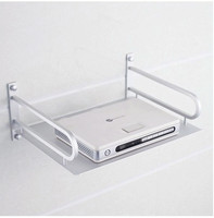 Shelf Stainless steel digital TV set top boxes frame supporting the rack shelf brackets routing wall