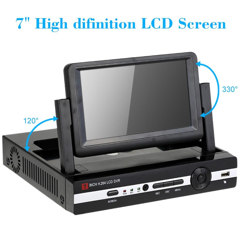 Hiseeu CCTV 4 Channel 8CH 1080N Digital Video Recorder with 7