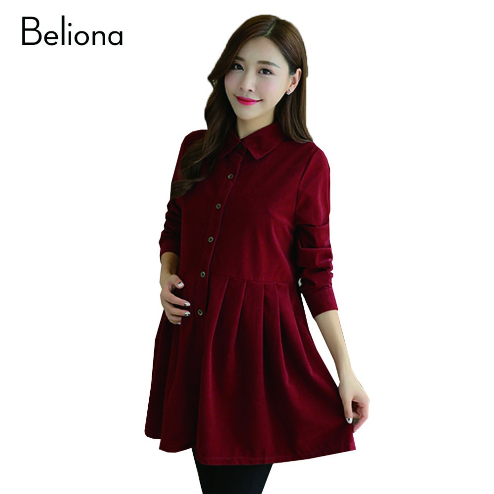 Compare prices on maternity clothes office online shoppingbuy 3 color formal maternity dresses for office women autumn spring lapel corduroy pregnancy clothes for pregnant ombrellifo Image collections