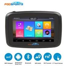 Fodsports 5 дюймов мото rcycle навигатор android 6,0 wifi 16G мото автомобиль gps ipx7 водонепроницаемый FM мото rbike навигация 3000 мАч батарея