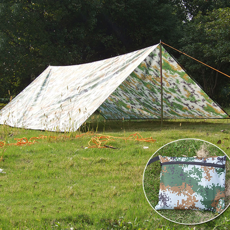 ФОТО 3*3m Waterproof Outdoor Hiking Camping  Shade Tents Barbecues Ground Cloth  Picnic Tent