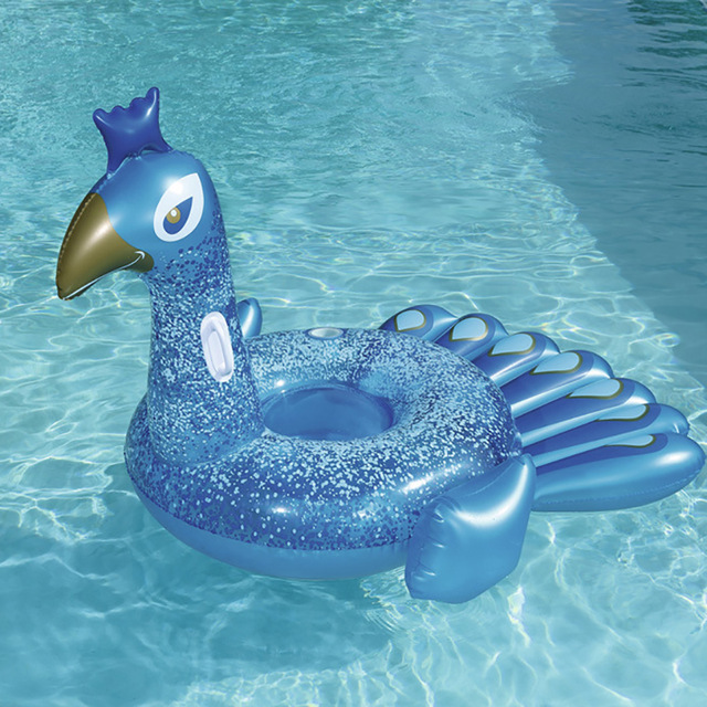 200cm Giant Inflatable Peacock Swimming Pool Float For Adult Ride on Air Mattress Swimming Ring Water Toys Flotador Boia Piscina