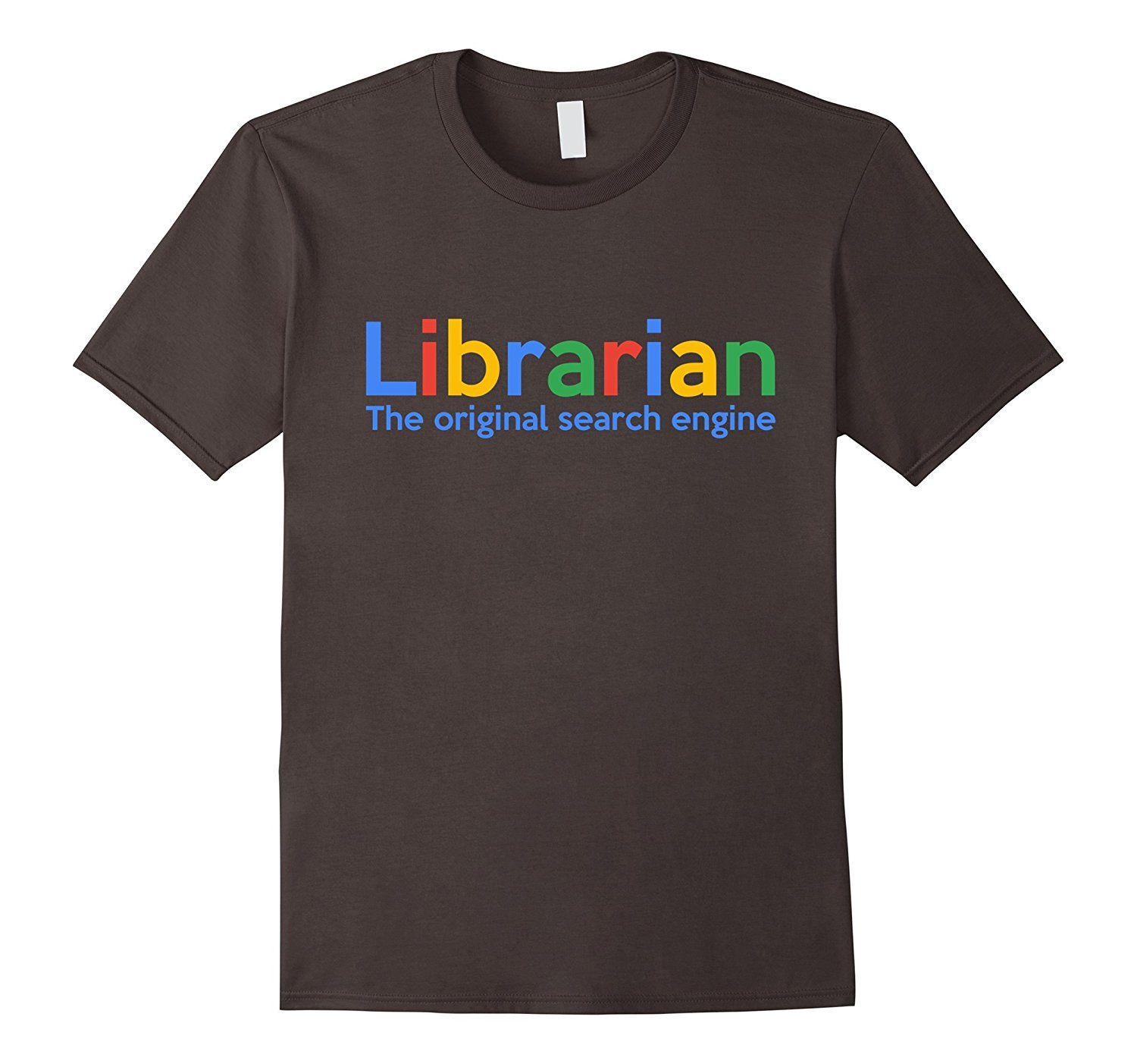 Librarian The Original Search Engine T Shirt | Funny Library O-Neck Oversize Style Tee Shirts Styles Print T-Shirt Male Brand image