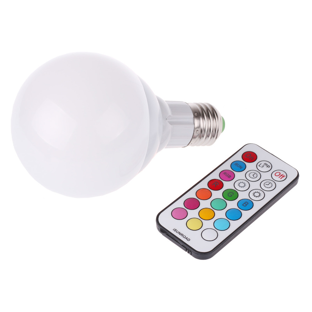 buy 10w 800lm e27 rgb led light bulb 12 color warm white dimmable lamp rgbw. Black Bedroom Furniture Sets. Home Design Ideas
