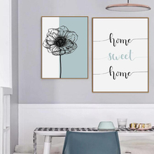 Nordic Home Sweet Dandelion Poster Canvas Paintings  Wall Art Printings Pictures for Living Room Decorations