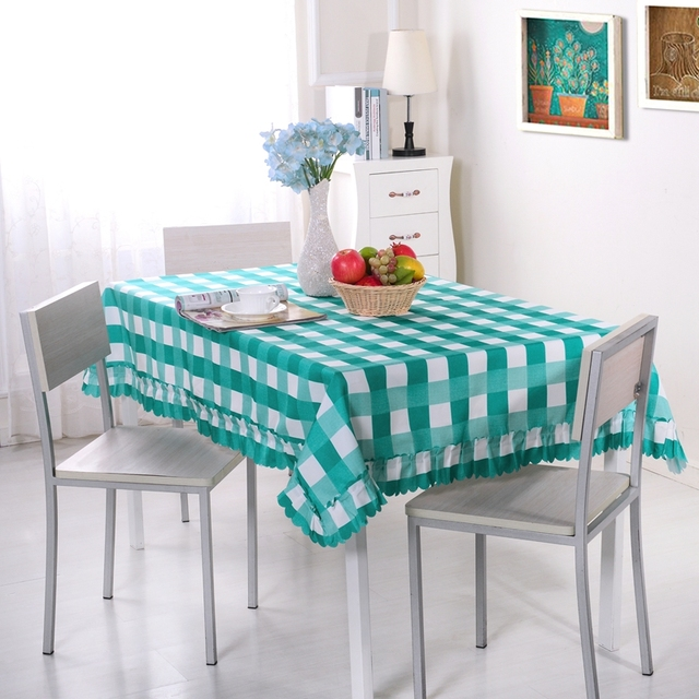 New Arrival 1 Piece Plaid Stripes Pastoral Style Tablecloth Dinner Table  Cloth Dining End Table Cover