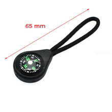 1pcs/pack Compass Zipper Pull With Strap For Backpack Gym Suit Garment Accessories Black Free Shipping(China)