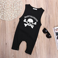 Das Meninas do Menino Da Criança Do Bebê recém-nascido Sem Mangas Romper Macacão personalidade Do Crânio Do Pirata Traje Outfits