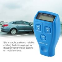 WT200A Mini Digital Coating Film Iron Thickness Gauge Car Meter Paint Painting Tester Handheld Testing 0 1.80mm