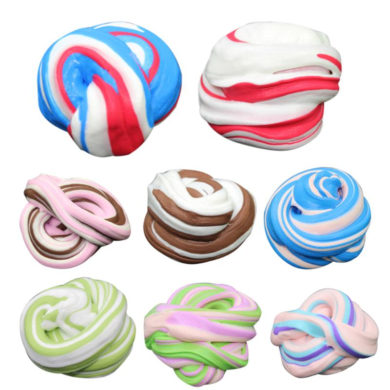 Plasticine Toys Educational Toys Multi color Fluffy Floam Slime Scented Stress Relief Kids Sludge Toys