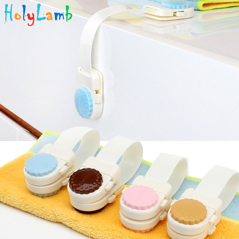 Colored Biscuit Cabinet Lock Baby Safety Closet Securite Enfant Chateau Lock Baby Products Child Safety Push Button Long Lock
