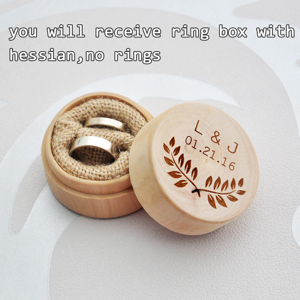 wedding ring box custom rustic wedding ring box personalized wedding ring 9935