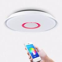 Modern LED Smart Ceiling Light 24W36W, APP Remote RGB Dimming 110V 220V Bluetooth Speaker Music Ceiling Light