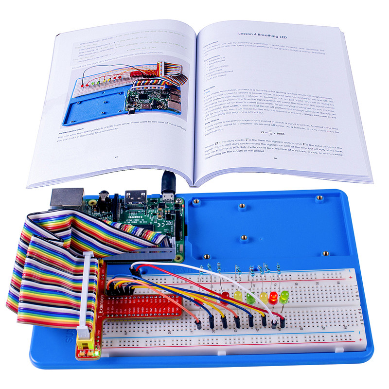 Image 2 - SunFounder Super Starter Learning Kit V3.0 for Raspberry Pi 3 Model B+ 3B, 2B B+ A+ Zero and 123 Page Instructions Book-in Demo Board from Computer & Office