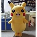 2014 new Pikachu Pokemon Mascot Costume Cartoon Character Costumes mascot costumes for adults Fancy Dress Party Suit