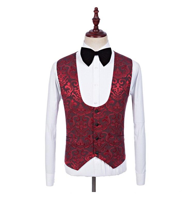 A Nuziale Collo Abiti Casual 2018 Ls1603 3 borgogna Di Pezzo Prom Slim  Vestito Rosa Rosa La Per Scialle Colore Uomo Cerimonia Da Bordeaux Jacquard  Folobe ... b7f26c30e8a