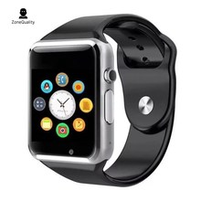 A1 Bluetooth relógio Inteligente relógio de pulso pedômetro Aptidão roupas Câmera SIM Smartwatch para Android WhatsApp Facebook telefone crianças
