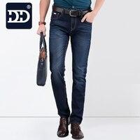 2016 Famous Brand Denim Light Deep Blue Men Jeans Summer True Mens Jeans Slim Straight Fit