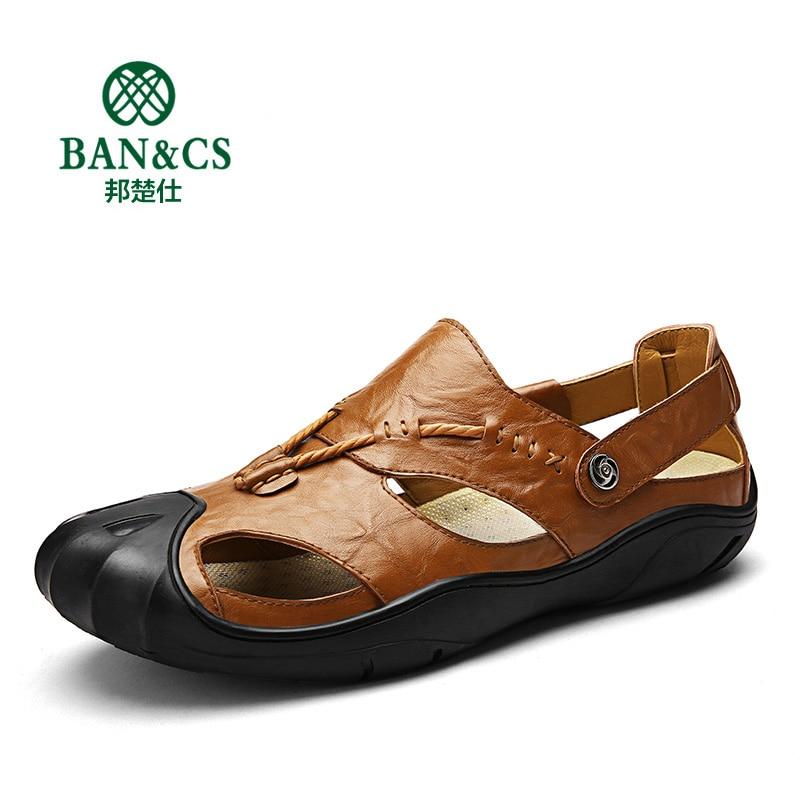 D'été Sandales Sandales Qualité Cuir marron Bcs03 Noir jaune En Hommes Haute Plage Mode Marque Bangchushi vHIg00
