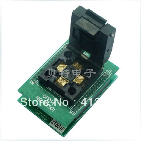 Block programming ucos QFP64, ZY501E test socket adapters