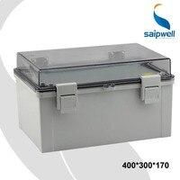 Venta 400 300 170mm cubierta transparente tapa carcasas impermeables para electrónica con bloqueo Material de la computadora