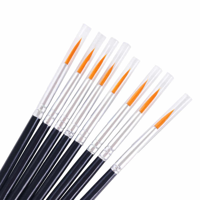 10 stks/set Fijne Hand Geschilderd Dunne Haak Lijn Pennen Zwart Art Supplies Tekening Art Pen Kwast Nylon Borstel Acryl schilderen Pen