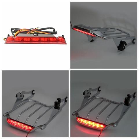 bagagem de motocicleta com duas alcas luz traseira para harley electra street glide road king