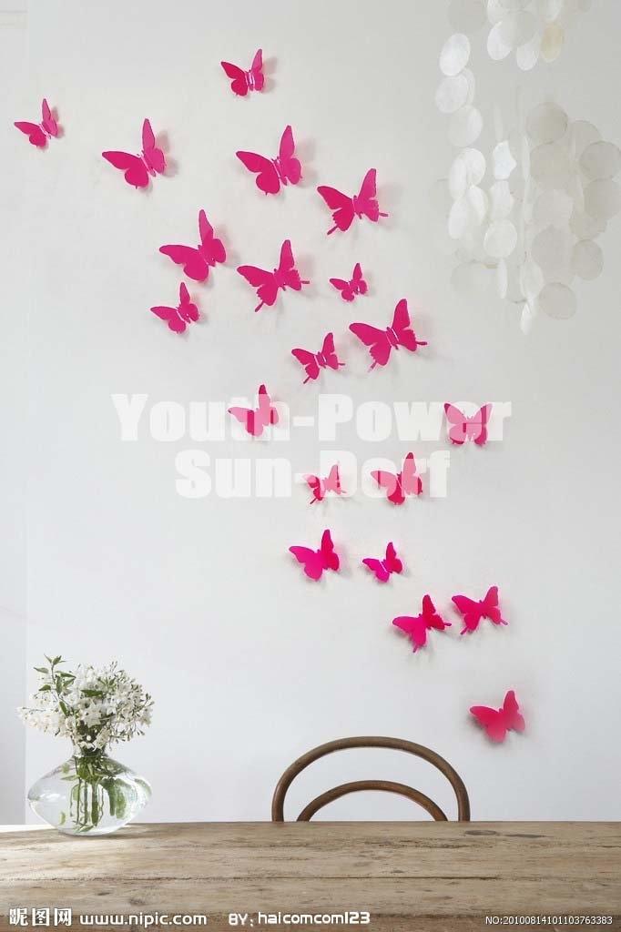 3D Wall Sticker Butterfly 30pcs Home Room Decor ...