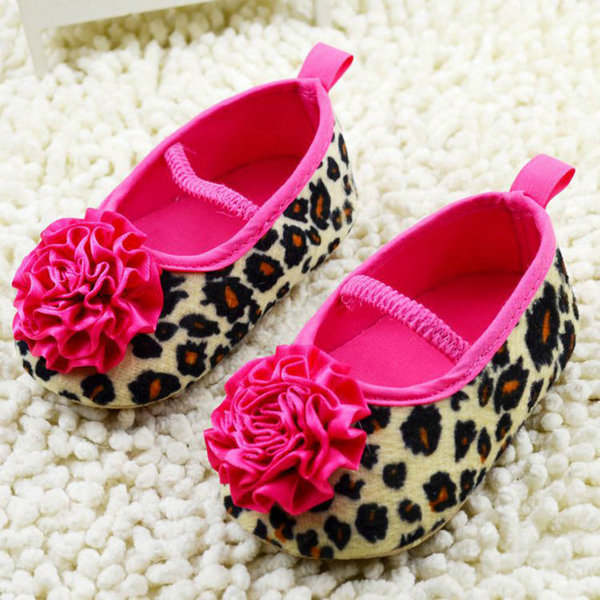 Newborn Shoes Red Flower Princess Soft Baby Shoes For Girl Baby Shoe Suitable For Dressing In Summer Or Spring