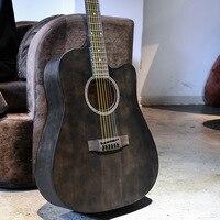 Guitarist Guitar 40 41 inch Acoustic Guitar Mahogany wood glossy Finish Rosewood Fingerboard guitarra with guitar strings