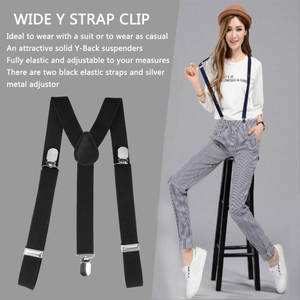 Pants Straps-Clip Suspender-Belt Brace Fully-Elastic Clip-On Women Adjustable Y-Back