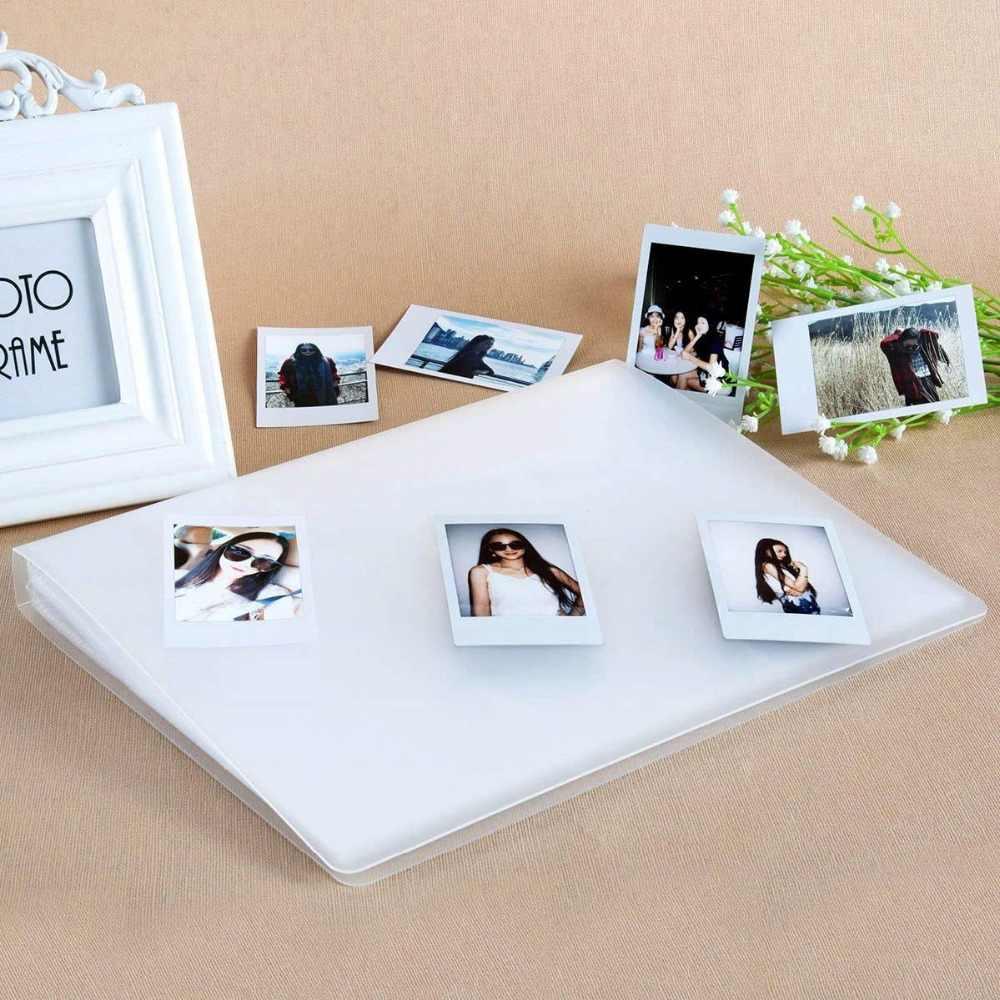 Совместимость 288 карманы 3-дюймовая пленка фотоальбом для ЖК-дисплея с подсветкой Fujifilm Instax Mini 8 9 LiPlay hp звездочки пленка, держатель билета, визитная карточка (прозрачный)