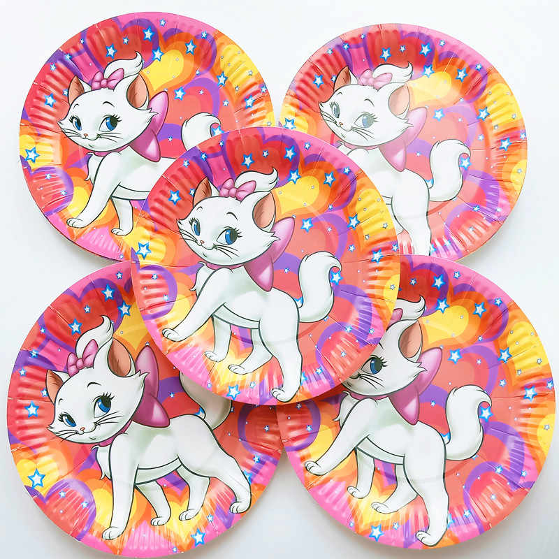 125 Pcs untuk 20 Orang Disney Marie Cat Selamat Ulang Tahun Pernikahan Anak-anak Bayi Anak Meja Meja Kain Banner Anak Dekorasi Set pemasok