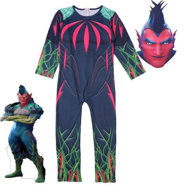 Kids Skull Fortnight Trooper Skin Decoration Boy Clown Cosplay