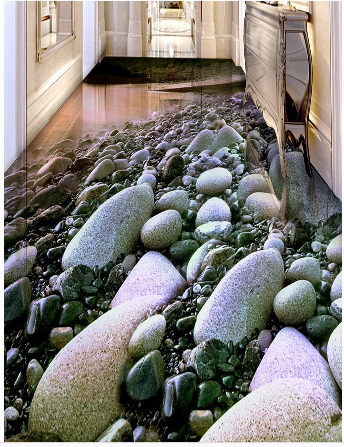 Waterproof floor mural painting beach 3D stereoscopic floor 3D wall murals wallpaper floor Home Decoration 3d stereoscopic stone water 3d wall murals wallpaper floor 3d wallpaper floor for living room home decoration