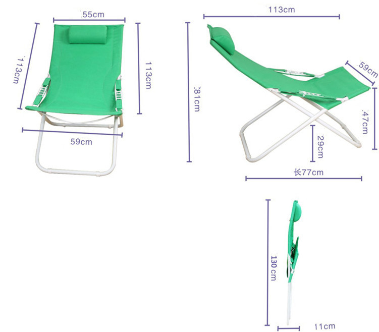 Купить с кэшбэком High quality simple modern folding chair lunch nap deck chair cun beach outdoor leisure chair free shipping