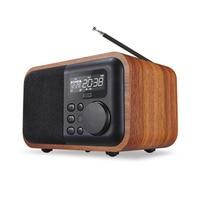 D90 Wireless Wooden Bluetooth portable Speaker Alarm U disk Card small Speaker Subwoofer Retro music Radio