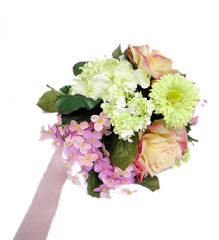 artificial flowers for wedding pastel green bridesmaid bridal bouquet small set wedding 1377