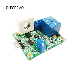 Image 4 - WCS1800 Hall Current Sensor Module DC AC Detection Module 30A Serial Output Overcurrent Protection