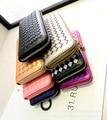 Wholesale Korea Wallet Zip Around Wallet Purse Leather Wallet Clutch Purse Lady Long Handbag Portable Bag Coin ID Card Bag
