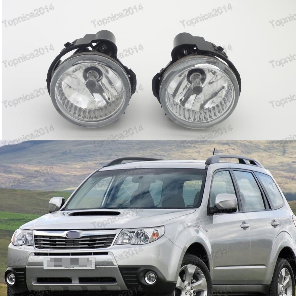 1Pair Clear Front Bumper Fog Lights Driving Spot Lamps For Subaru Forester 2011-2013
