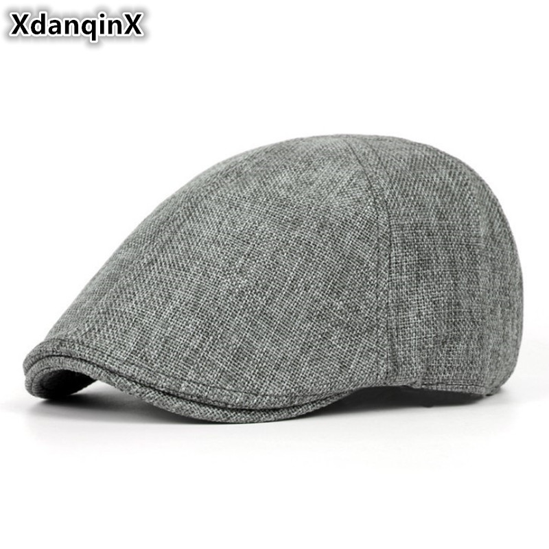XdanqinX Summer Retro Men's Cap Ultra-thin Breathable Berets For Men Women Elegant Women's Flat Caps Beret Ladies Couple Hat New