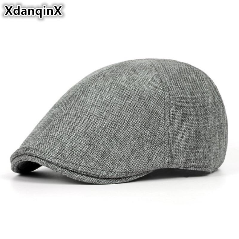 US $3.51 26% OFF|XdanqinX Summer Retro Men's Cap Ultra thin Breathable Berets For Men Women Elegant Women's Flat Caps Beret Ladies Couple Hat New in