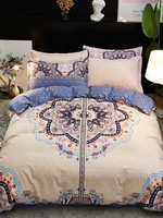 Bed Linen China Satin Bed Cover Queen Size Flowers Double Bedding Set King Bed Sheet