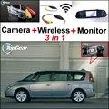 3 in1 Cámara + Receptor Inalámbrico + Monitor Del Espejo Especial FÁCIL de BRICOLAJE Sistema de Aparcamiento Para Renault Espace 4 2003 ~ 2014