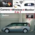 3 in1 Câmera Sem Fio + Receptor + Monitor Espelho Especial FÁCIL DIY Sistema De Estacionamento Para Renault Espace 4 2003 ~ 2014