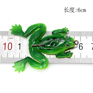 Image 2 - Donner frosch 5g 6cm Anti hängen unten mit haken weiche frosch Snakehead Angeln köder Schwimmen Köder wobbler silikon angelgerät